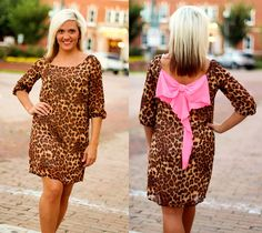"""Veronica"" Bow Back Dress.  $42.99.  S, M, L, XL, 2X, 3X.  Available at 105 West Boutique in Abbeville, SC.  (864) 366-WEST.  Shipping $5."