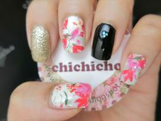 Floral Water Decal Nail Art Born Pretty Review | chichicho~ nail art addicts