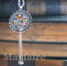 Confetti Candy Resin Art Pendant by MayfaireArt on Etsy, $30.00