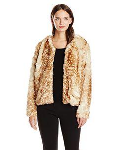MINKPINK Women's Oh Deer Fur Coat