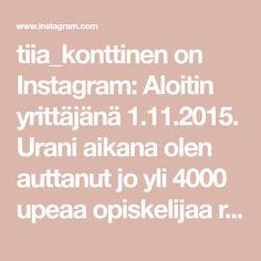 tiia_konttinen on Instagram: Aloitin yrittäjänä 1.11.2015. Urani aikana olen auttanut jo yli 4000 upeaa opiskelijaa rakentamaan blogeja, jotka tuottavat rahaa tai… Moon, Kid, Youtube, Instagram, The Moon, Child, Kids, Youtubers, Youtube Movies