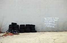 """""""You know I was thinking that you are a wonderful person"""" Graffiti in Illinois."""