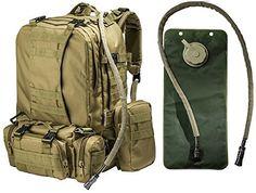"""Big Monkey"" Military Tactical Backpack - 3 Bonus MOLLE Bags - 2.5L Hy – monkeypaks"