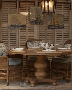 Love the weathered shutters