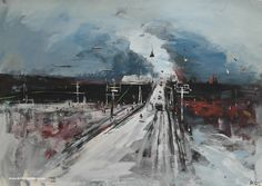 "Konstantin Batynkov ""The Road"" project, 2016, acryl on vinyl, 61x86 cm."
