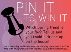 We're excited to launch a fun little Pinterest exclusive... Tell us your favorite treat, and you could win - the item with the most repins will be your gift with purchase come Wednesday!