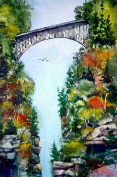Deception Pass, watercolor by Kim Attwooll