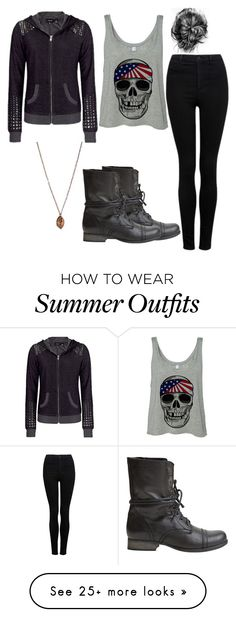"""""""Casual"""" by rebeccawilson-480 on Polyvore featuring Steve Madden, Miss Me, Forever New and Silver Forest"""
