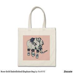 Rose Gold Embellished Elephant Bag