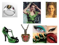 """""""hermione at the yule ball"""" by sarahmullen-yugioh ❤ liked on Polyvore featuring Emma Watson and Funtasma"""