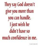 yeah.. But at the same time i am really glad he does cause i feel really great when the pain is gone