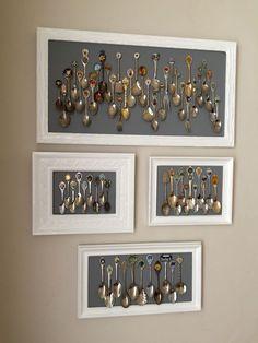 Genius Wall Decor Ideas That Aren't Paintings - Dekoration Retro Home Decor, Cheap Home Decor, Spoon Collection, Collection Displays, Nature Collection, Deco Originale, Displaying Collections, Plates On Wall, Diy Art