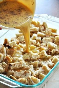 Pumpkin French Toast Bake! Thanksgiving breakfast idea.