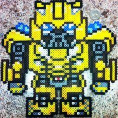 Bumblebee Transformers perler beads by theperlerbeadproject
