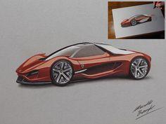 Ferrari Xezri DRAWING by marcellobarenghi.deviantart.com on @deviantART