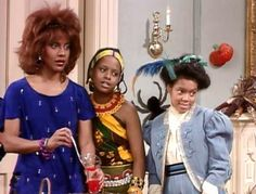 "On ""The Cosby Show"", Vanessa has a boy/girl Halloween party at home.  (That is Claire as Tina Turner!) in the episode ""Halloween"", which originally aired on October 31, 1985."