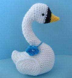Amigurumi Pattern Crochet Swan Digital Download by AmyGaines