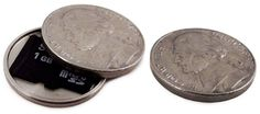 Secretly Carry Your Photographs in These Spy Coins Created from Real Currency openclosed