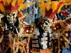 At the La Vega Carnival. February, 2016. An experience not to be missed!