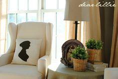 Dear Lillie: Silhouette Pillow Tutorial #diy #regency