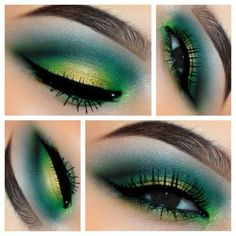 Green/Yellow Eyes in Motives Paint Pot Eye Shadow(Cha-Ching & She Sparkles)!   #Eyes #Gold #Green