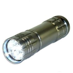 Pin It :-) Follow Us :-)) zCamping.com is your Camping Product Gallery ;) CLICK IMAGE TWICE for Pricing and Info :) SEE A LARGER SELECTION of camping flashlights at http://zcamping.com/category/camping-categories/camping-lighting/camping-flashlights/ - hunting, camping, flashlights, camping lighting, camping gear, camping accessories - Neiko Super-Bright 9 LED Heavy Duty Compact Aluminum Flashlight – Gunmetal Silver « zCamping.com