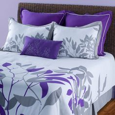 Take a look at this Putty & Purple Comforter Set by Rizzy Home on today! Inexpensive Home Decor, Elegant Home Decor, Cheap Home Decor, Wood Home Decor, Vintage Home Decor, Decor Diy, Purple Comforter, Country Interior Design, Purple Bedrooms