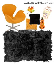 """""""Black and Orange!!"""" by msdrew11 ❤ liked on Polyvore featuring interior, interiors, interior design, home, home decor, interior decorating, Natural by Lifestyle Group, Loloi Rugs, orangeandblack and colorchallenge"""