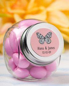 Personalized Glass Jar #Personalized #wedding #weddingfavor http://www.bluerainbowdesign.com/WeddingFavorProduct.aspx?ProductID=PR112709174999KelowSXimenaBRD22744=WEDDI=GROUP=WPERS