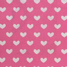 Heart Fabric - Fuchsia (2515/238) - Prestigious Textiles Ideal World Fabrics Collection