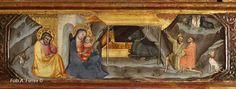 Bicci di Lorenzo - Polittico di Stia: dettaglio  predella: Natività - 1414 - Pieve di Santa Maria Assunta, Stia in Casentino.