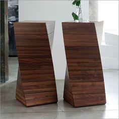 porada piroette 7 chest of drawers, canaletto walnut by archem