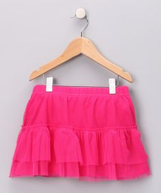 Take a look at this Fuchsia Ruffle Skirt - Toddler & Girls by Little Miss Pretty: Girls' Apparel on #zulily today!