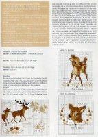 Gallery.ru / Фото #11 - De fil en Aiguille HS 14-06 - Labadee Bambi, Cross Stitching, Cross Stitch Embroidery, Cross Stitch Patterns, Cross Stitch Alphabet, Cross Stitch Animals, Animal 2, Christmas Fun, Needlepoint