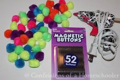 Make your own pompom magnets (Confessions of a Homeschooler)