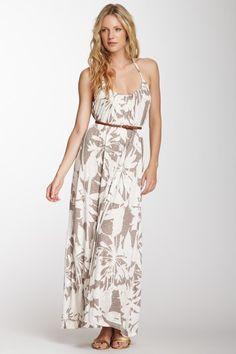 Orville Halter Tie Printed Maxi Dress by Velvet By Graham & Spencer on @HauteLook