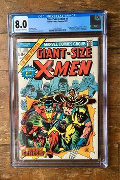Giant-Size X-Men; Vol 1, 1, Bronze Age Comic Book. CGC Graded 8.0 (VF). May 1975. Marvel Comics #xmen #giantsizexmen #wolverine #comicsforsale