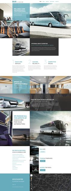 Websites of transportation companies don't have to be dull and uniform, and this responsive Transportation website template is a proof. It features an exquisite image-heavy layout that consists of ...