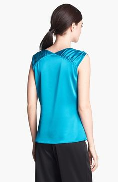 St. John Collection Cowl Neck Liquid Satin Top | Nordstrom