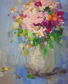 "Saatchi Art Artist Vahe Yeremyan; Painting, ""Vase of Flowers, Original oil Painting, Handmade art, One of a Kind"" #art"