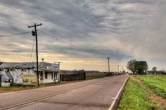 Country road near Ridgely, TN.