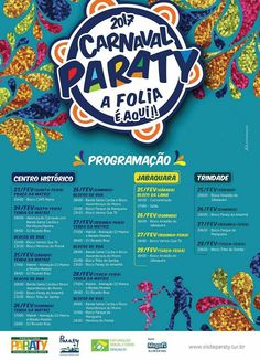 Programação Carnaval 2017!!! Venha curtir o melhor Carnaval da região.  #exposição #evento #festival #música #fotografia #arte #cultura #turismo #VisiteParaty #TurismoParaty #Paraty #PousadaDoCareca #PartiuBrasil #MTur #boatarde #boatardee #bomdia #boanoite #carnaval #carnaval2017 #carnavalparaty #précarnaval #précarnavalparaty  http://www.visiteparaty.tur.br/noticia/carnaval-paraty-2017/