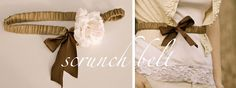 ~Ruffles And Stuff~: The Scrunch Belt