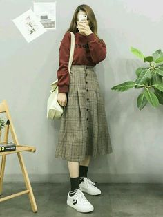 Korean Fashion Trends you can Steal – Designer Fashion Tips Ulzzang Girl Fashion, Korean Girl Fashion, Korean Fashion Trends, Korean Street Fashion, Korea Fashion, Asian Fashion, Latest Fashion, Fashion Styles, Fashion Ideas