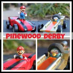 Angry Birds and Super Mario Pinewood Derby Cars - Busy Kids Happy Mom