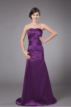 Charmeuse Strapless Sweep Train A-line Mother Of The Bride Dress - Alice Bridal