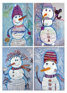 - Art with Mrs. Group Art Projects, Winter Art Projects, Winter Crafts For Kids, Kindergarten Art Lessons, Art Lessons Elementary, Winter Painting, Painting For Kids, Art Drawings For Kids, Art For Kids