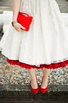 love the red petticoat. and the shoes ain't bad either,