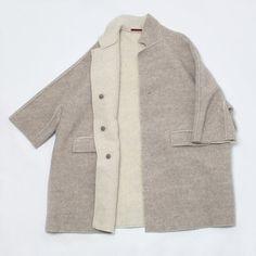 DANIELA GREGIS alpaca coat: soft and simple