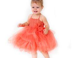 Bebé vestido de niña. Bebé niña de las flores tul por AylinkaShop